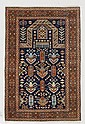 DERBEND old.Black mihrab with stylized plants,