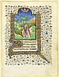 BOOK ILLUMINATION.-France, circa 1420. Page from a