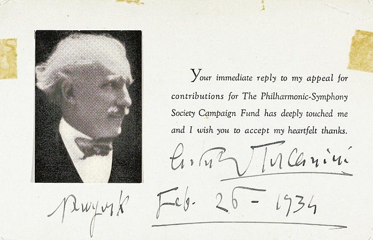 Toscanini, Arturo, Dirigent (1867-1957).