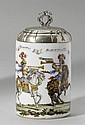 PORCELAIN TANKARD WITH HAUSMALER DECORATION AND