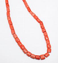 CORAL SAUTOIR.532g.Endless chain of 40
