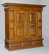 A BAROQUE CUPBOARD or 'KISSENSCHRANK',