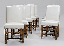 A SUITE OF 8 CHAIRS,Louis XIII style, France.
