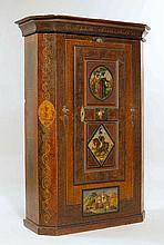 A PAINTED ARMOIRE, circle of Johannes Bartholomäus