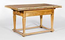 A BIEDERMEIER ALPINE TABLE WITH EXTENSIONS,