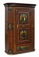 A PAINTED ARMOIRE,circle of Johannes Bartholomäus