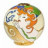 FRENCH PIECEGLOBE VASE, 'Lorette' model for
