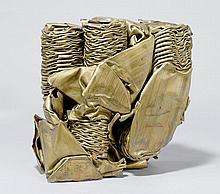 MODERN SCULPTURE 'ROHRPOST',20th century.Brass.