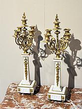 PAIR OF GIRANDOLES,Napoleon III, France.Bronze,