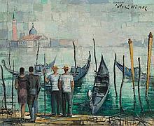 NINOS, ANTONIS(1912 Greece 1996)Venice.Oil on