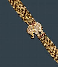 DIAMOND AND RUBY LADY'S WRISTWATCH, CHOPARD, ca.