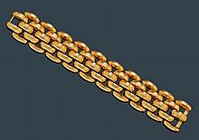 GOLD BRACELET, ca. 1940.Pink gold 750,