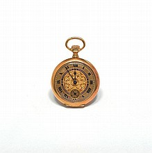 LOT OF TWO PENDANT WATCHES, ca. 1900.Yellow and