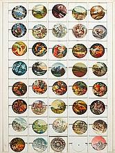 39 ENAMELED DIALS, 1980s.39 polychrome dials