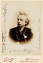 Grieg, Edvard, Komponist (1843-1907). Eigenhändige