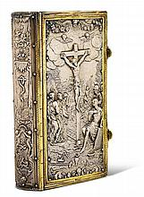 EINBÄNDE - Silbereinband über Holzdeckeln. Starkes