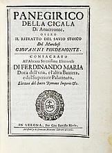 Pindemonte, G. Panegirico della Cicala di Anacreon