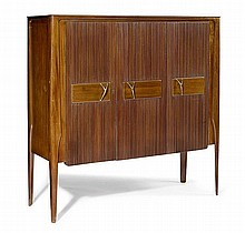ITALIAN WORKBUFFET, c. 1950Mahogany and brass. 131