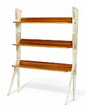 ITALIAN WORKSHELVES, c. 1950Mahogany and