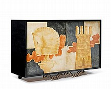 PHILIPPE CORTEYNSIDEBOARD, c. 1950Black lacquered