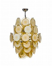 ITALIAN WORKA PAIR OF CEILING LIGHTS, designed in