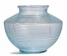 DAUM NANCYVASE, c. 1930Light blue glass with