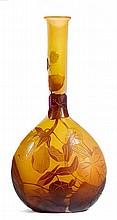 EMILE GALLEVASE, c. 1900Yellow glass overlaid in