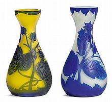 RICHARD2 SMALL VASES, c. 1900White and yellow