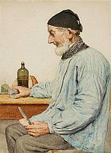 ANKER, ALBERT(1831 Ins 1910)A grandfather having a