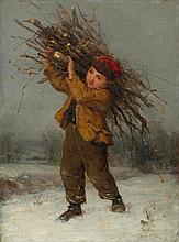 ANKER, ALBERT(1831 Ins 1910)Boy with bundle of