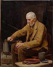 ANKER, ALBERT(1831 Ins 1910)Old man with coffee