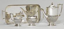 SMALL TEA SERVICE,Germany, 20th century.Comprising: coffee pot, cream jug, sugar bowl