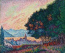 SIGNAC, PAUL(1863 Paris 1935)St. Tropez. La Ville