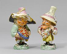 PAIR OF DWARF FIGURES, England, 19th century.Each