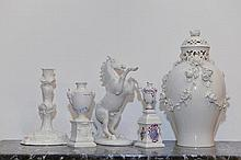 LOT OF PORCELAIN OBJECTS, Nymphenburg, 20th