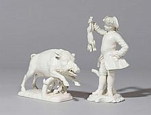 FIGURE OF A WILD BOAR AND OF A HUNTER,