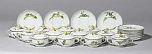 12 SOUP CUPS WITH HUNTING MOTIFS, Nymphenburg,