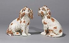 PAIR OF BOLOGNESE DOGS, Nymphenburg, 19th