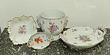 LOT OF DIFFERENT PORCELAIN OBJECTS, Nymphenburg,