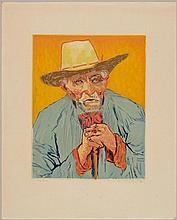VILLON, JACQUES(Damville 1875 - 1963 Puteaux)Van Gogh. Le paysan. 1927.Colour