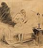 FORAIN, JEAN-LOUIS(Reims 1852 - 1931 Paris)Levée d'une jeune fille.India ink, Jean-Louis Forain, CHF150