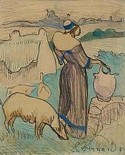 BERNARD, EMILE(Lille 1868 - 1941 Paris)Jeune