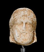 HEAD OF A BEARDED MAN, Late Hellenic, 4th century