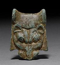 HEAD OF A LIONESS, Greece, 480-450 B.C.Bronze with