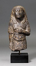 STATUETTE OF A CIVIL SERVANT, Egypt, New Kingdom,