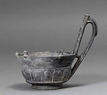 'BUCCHERO' KYATHOS, Etruscan, ca. 6th century