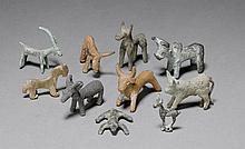 SERIES OF 10 SMALL ANIMAL FIGURES, Luristan,