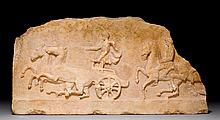 FRAGMENT OF A FRIEZE, probably Attic, 4th century