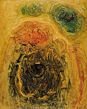 AMBADAS1922 - 2012Painting No 2. 1968.Oil on