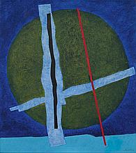FRITZ WINTER1905 - 1976Grüner Kreis. 1968.Oil on